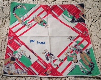 Vintage Rodeo Cowboy Hanky Roping Horses All things Cowboy