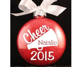 Cheerleader Megaphone Christmas Ornament