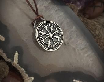 Vegvisir Pendant - Viking Talisman - Norse Talisman - Viking Compass - Norse Jewelry - Rune Compass - Vikings - Show - Pagan - Wiccan