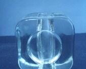 Space Age Glass Vase - OpArt - Vintage