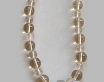 Meditation Mala, Spatika Mala, Clear Crystal Necklace, Rock Crystal Beads, 4mm and 6 mm Clear Crystal Bead Necklace