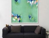 "Large wall, art ABSTRACT giclée print, up to 40x40"", modern Painting, Abstract Art, Acrylic Painting, Abstract Art green"