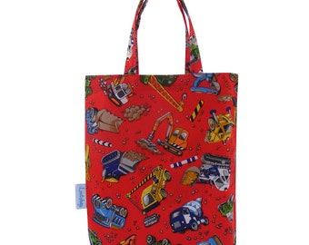 Diggers Fabric Party Bag