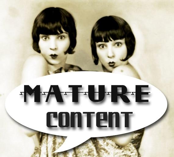 MATURE... Love Slave... Instant Digital Download... Vintage Nude Photo... BDSM... Erotic Photography
