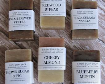 Soap Sampler - Pick 2, Cold Process Soap, Natural Soap