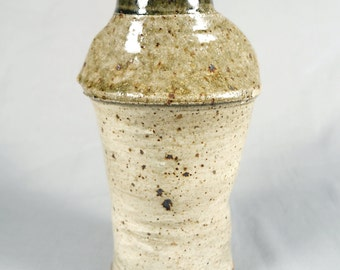Douglas L. Johnson, Vintage Studio Pottery, wheel thrown, altered, tall vase