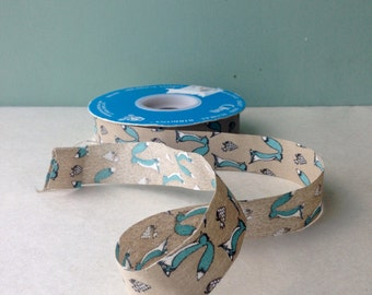 """Vintage Ribbon, Fox and Grape ribbon, 7/8"""" 5yards"""