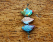 Bird bead trio