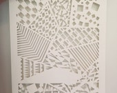 Abstract Geometric Paper Cutting - large format, original, handcut paper art