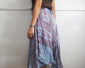 SALE - Ethnic Om Sign Print Wrap Skirt / All Sizes