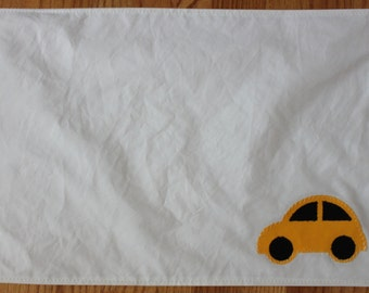 recycled yellow car sail placemat