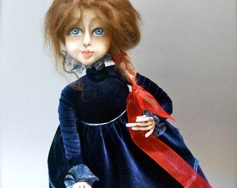 Loren  Handmade art doll  Art doll   Art dolls OOAK   Paperclay  doll   Handmade doll   Collecting doll