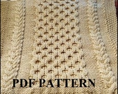 Knitting Pattern: Gender Neutral Cable Knit Chunky Yarn Baby Blanket Pattern *INSTANT DOWNLOAD*