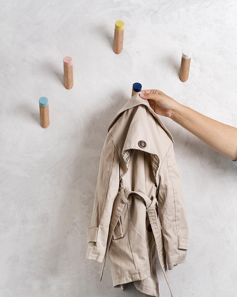 wall hooks entryway coat hooks kids room hooks by. Black Bedroom Furniture Sets. Home Design Ideas