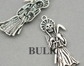 Grim Reaper Charms BULK order Antique Silver 10pcs zinc alloy pendant beads 19X51mm CM0547S