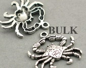 Crab Charms BULK order Antique Silver 20pcs zinc alloy pendant beads 23X24mm CM0357S