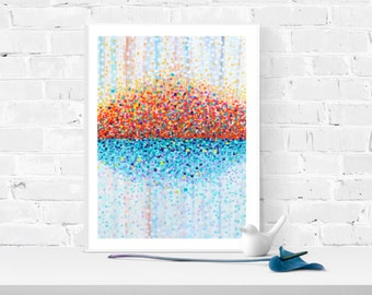 Art Print - Red, White, & Blue Giclee Print of Abstract Louise Mead Painting -  'Bring Me Sunshine'