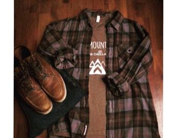 Screen printed Shirt, Mountains are Calling, ADULT  t shirt, mens clothing, mens tee, Outdoor Shirt, various colors