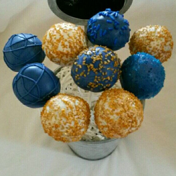 Blue And Yellow Cake Pops