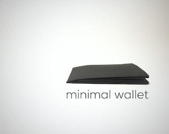 black minimalistic paper wallet