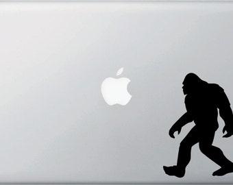 "MB - Sasquatch Bigfoot Yeti - D1 - Macbook or Laptop Decal -  Yadda-Yadda Design Co. (3.5""w x 5""h) (Color Choices)"