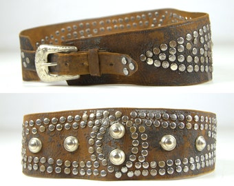 1940s Studded Motorcycle Kidney Belt Biker