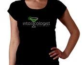 Intoxicologist Margarita RHINESTONE t-shirt tank top sweatshirt - S M L XL 2XL - Select Rhinestone Color - glass Bartend Bartender Bar