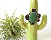 Cactus Ring holder - Jewelry Display, Ring cone, Ring Display, Ring Tree, Ceramic Ring Cone, Ceramic Jewelry Display, Southwestern Jewelry