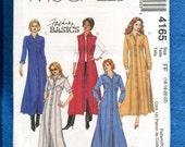 McCall's 4165 Classic Princess Shirt Dresses or Duster Vest Size 16 to 22 UNCUT