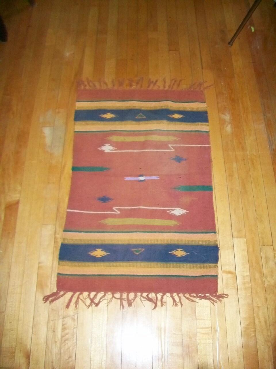 Vintage 1940s Native American Rug Southwestern Decor 44 X 26
