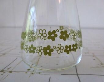 60's Pyrex Spring Blossom Crazy Daisy Oil Cruet Beaker Shaker Decanter Condiment