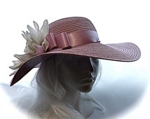 Derby Hat Violet Garden Party Hats Mother of the Bride DH-111