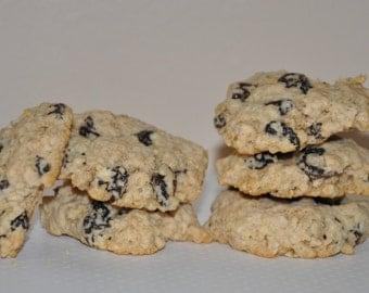 Sugar Free Oatmeal Raisins Honey  Cookies Chunky  made with Splenda dozen
