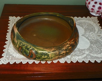 Antique Roseville Imperial pottery Bowl Planter Console