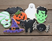 Halloween Party Favors / Halloween Cookies / Halloween Favors / Gifts for Teachers / Halloween Sugar Cookies - 16 cookies