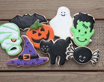halloween party favors halloween cookies halloween favors gifts for teachers halloween sugar - Decorated Halloween Sugar Cookies