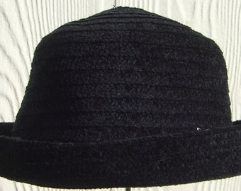 Soft black hat made by Betmar.