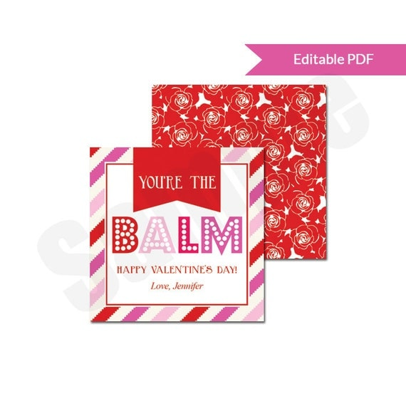 Items Similar To Youre The Balm Lip Balm Valentines Day