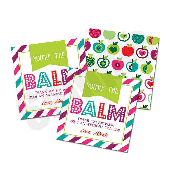 It's just an image of Shocking You're the Balm Printable