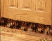Faux Fur Draft Stopper / Door or Window Snake / Old House /  Luxury Fur / Dust Guard / Wolverine Fur / 3', 4' or 5'