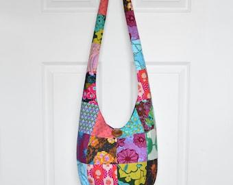 Hobo Bag Crossbody Bag Sling Bag Hippie Purse Boho Bag Bohemian Purse Patchwork Hobo Bag Fabric Purse Hippie Bag Hobo Purse Handmade Bag