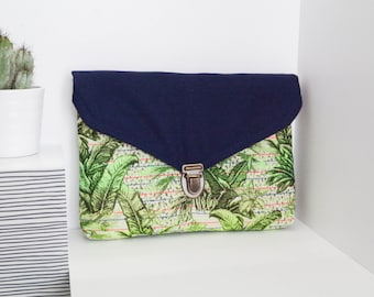 Mini tablet case / Envelope / In tropical fabric