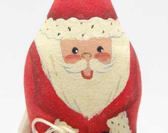 Vintage Hand Made, Hand Painted Santa for Christmas