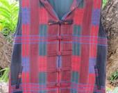 Tribal Mens Hoodie Vest With Fringe In Authentic Tribal Naga Waist Coat - Derek