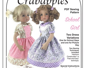 "School Girl Dresses for Little Darling and other 13"" dolls"