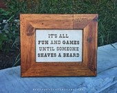Fun & Games - framed cross stitch