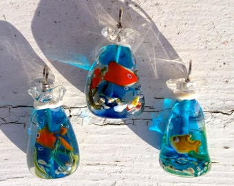 Petstore Fish in a Bag Pendant