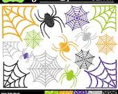 50% OFF  Glitter Clipart - Glitter Halloween Clipart - Spider Glitter Clipart - Spider Clipart - Commercial Use