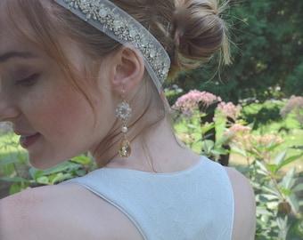 Winter Wedding, Frozen, Swarovski Crystal Headpiece, Crystal Headband, Wedding Crown, Bridal Headband-ALICIA