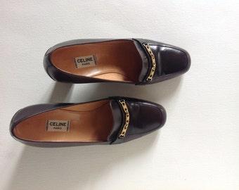 Celine Heels Oxford brown shoes T 39